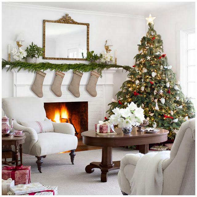 Interiors Inspiration: Festive White Farmhouse